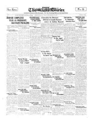 The Daily Courier from Connellsville, Pennsylvania on March 3, 1930 · Page 1