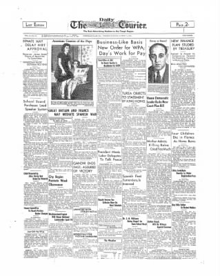 The Daily Courier from Connellsville, Pennsylvania on March 7, 1939 · Page 1