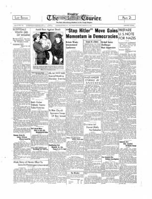 The Daily Courier from Connellsville, Pennsylvania on March 18, 1939 · Page 1
