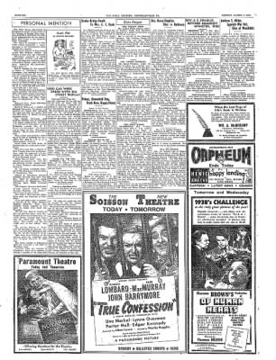 The Daily Courier from Connellsville, Pennsylvania on March 7, 1938 · Page 6