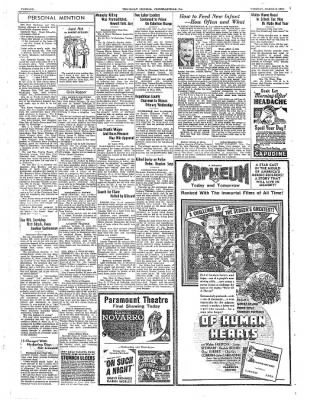 The Daily Courier from Connellsville, Pennsylvania on March 8, 1938 · Page 6