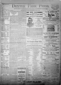 Sample Dexter Free Press front page