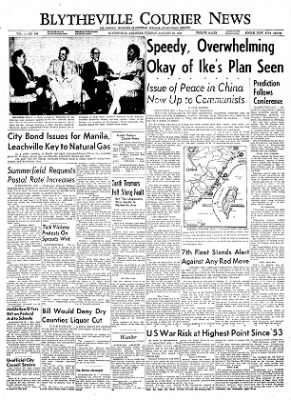 The Courier News from Blytheville, Arkansas on January 25, 1955 · Page 1