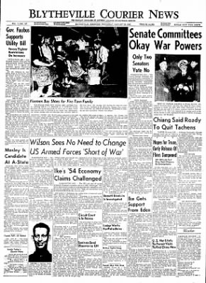 The Courier News from Blytheville, Arkansas on January 26, 1955 · Page 1