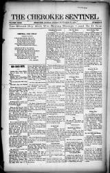 The Cherokee Sentinel