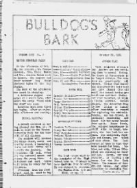 Sample Bulldogs Bark front page