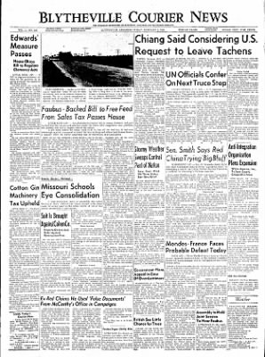 The Courier News from Blytheville, Arkansas on February 4, 1955 · Page 1