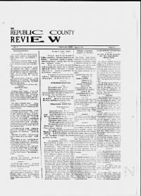 Sample The Republic County Review front page