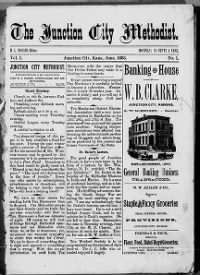 Sample Junction City Methodist front page