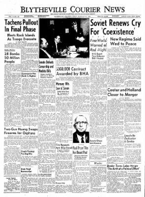The Courier News from Blytheville, Arkansas on February 11, 1955 · Page 1