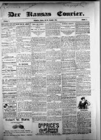 Sample Der Kansas Courier front page