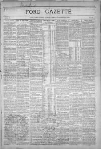 Sample Ford Gazette front page