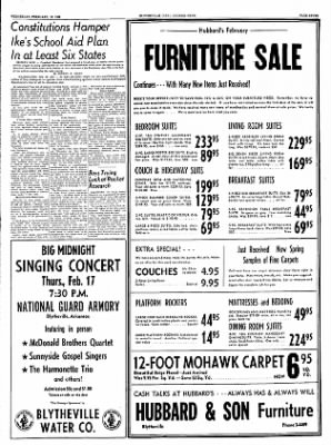 The Courier News from Blytheville, Arkansas on February 16, 1955 · Page 7