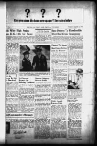 Sample The Carrier's Courier front page