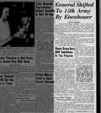 General George Patton is relieved of command of Third Army; Will now command the Fifteenth Army