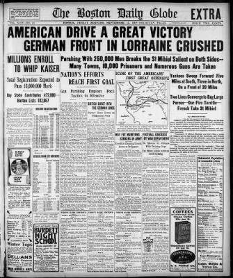 The Boston Globe from Boston, Massachusetts on September 13, 1918 · 1