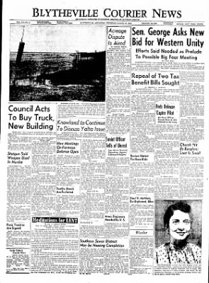 The Courier News from Blytheville, Arkansas on March 24, 1955 · Page 1
