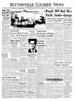 The Courier News from Blytheville, Arkansas on March 29, 1955 · Page 1