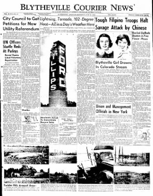 The Courier News from Blytheville, Arkansas on June 21, 1952 · Page 1