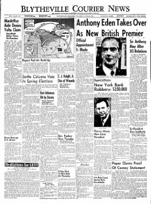 The Courier News from Blytheville, Arkansas on April 6, 1955 · Page 1