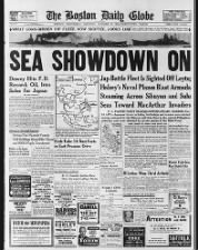 U.S. newspaper front page news of Battle of Leyte Gulf in October 1944