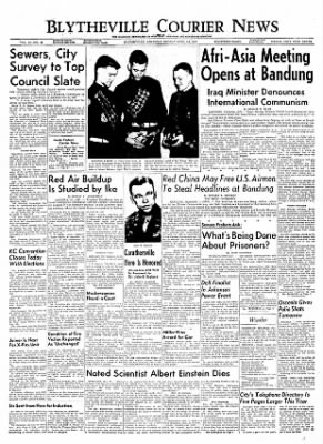 The Courier News from Blytheville, Arkansas on April 18, 1955 · Page 1