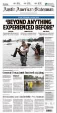 Newspaper front page coverage of 2017's Hurricane Harvey