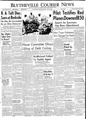 The Courier News from Blytheville, Arkansas on July 31, 1953 · Page 1
