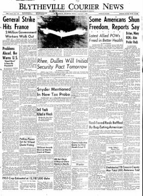 The Courier News from Blytheville, Arkansas on August 7, 1953 · Page 1