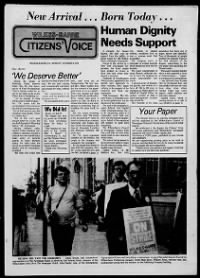Sample Citizens' Voice front page