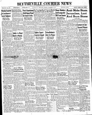 The Courier News from Blytheville, Arkansas on December 2, 1947 · Page 1