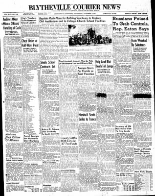 The Courier News from Blytheville, Arkansas on December 3, 1947 · Page 1