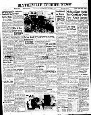 The Courier News from Blytheville, Arkansas on December 5, 1947 · Page 1