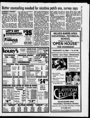 Citizens Voice From Wilkes Barre Pennsylvania On February 23 1994