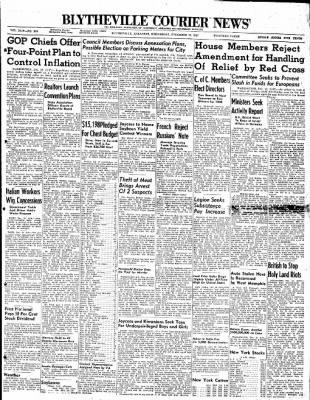 The Courier News from Blytheville, Arkansas on December 10, 1947 · Page 1