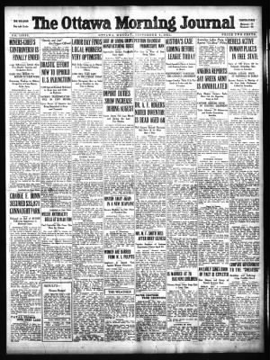The Ottawa Journal From Ottawa Ontario Canada On September 4 1922 Page 1
