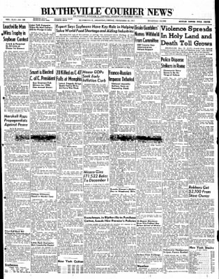 The Courier News from Blytheville, Arkansas on December 12, 1947 · Page 1