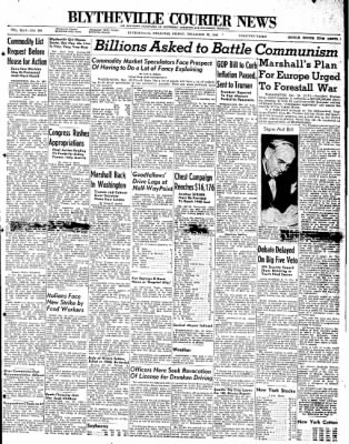 The Courier News from Blytheville, Arkansas on December 19, 1947 · Page 1
