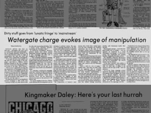 Article about the distinction between espionage activities of past campaigns and those of Watergate