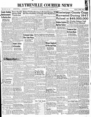 The Courier News from Blytheville, Arkansas on December 31, 1947 · Page 1