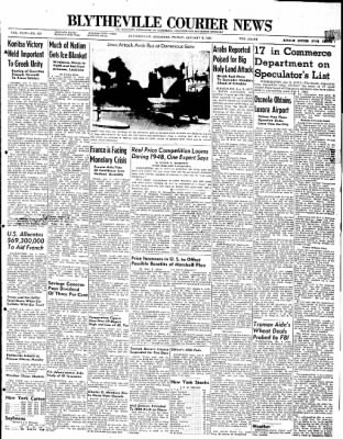 The Courier News from Blytheville, Arkansas on January 2, 1948 · Page 1