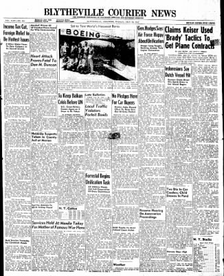 The Courier News from Blytheville, Arkansas on July 28, 1947 · Page 1