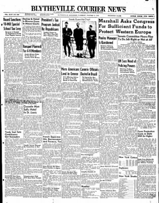 The Courier News from Blytheville, Arkansas on January 8, 1948 · Page 1