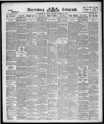 Harrisburg Telegraph from Harrisburg, Pennsylvania on November 26, 1894 · Page 1