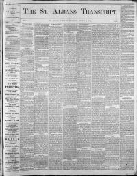 Sample St. Albans Transcript front page