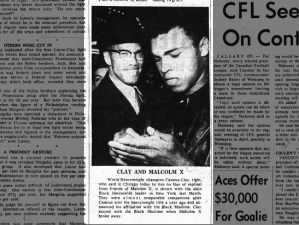 Image of Muhammad Ali with Malcolm X after Ali joined the Nation of Islam