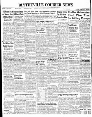 The Courier News from Blytheville, Arkansas on January 20, 1948 · Page 1