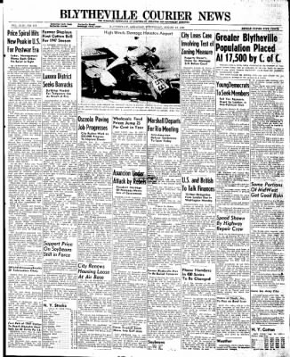 The Courier News from Blytheville, Arkansas on August 13, 1947 · Page 1