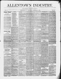 Sample Allentown Industry front page
