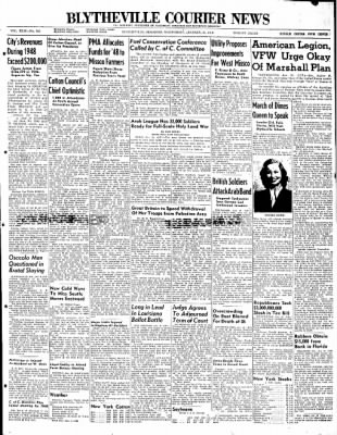 The Courier News from Blytheville, Arkansas on January 21, 1948 · Page 1
